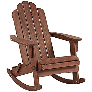 Chandler Dark Natural Adirondack Rocking Chair