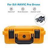 Depstech Waterproof Anti-Shock Hardshell Carrying Case Bag Suitcase for DJI Mavic Pro Drone Foldable Quadcopter Drone - Yellow