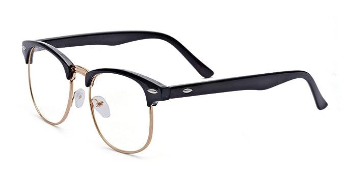 2a1c77a396c Kelens Vintage Inspired Classic Half Frame Horn Rimmed Clear Lens Glasses