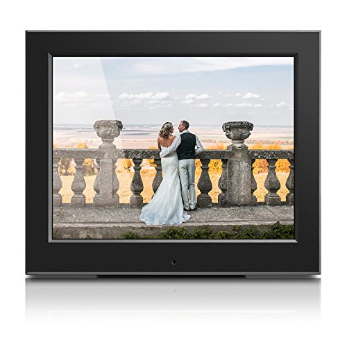 Aluratek - 8'' Slim Digital Photo Frame with Auto Slideshow 1024 x 768 Hi-Res by Aluratek