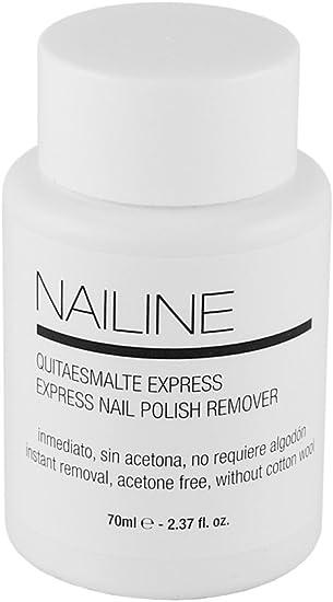 Nailine Quitaesmalte Express con Esponja Sin Acetona 70ml: Amazon ...