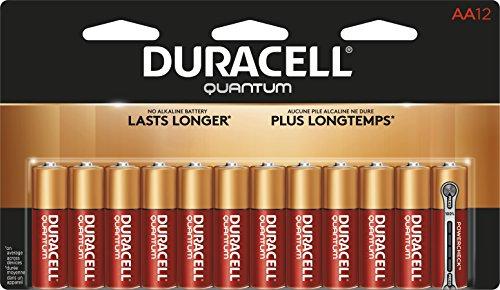 Duracell Quantum Alkaline Batteries, AA, 12/PK (QU1500B12Z)