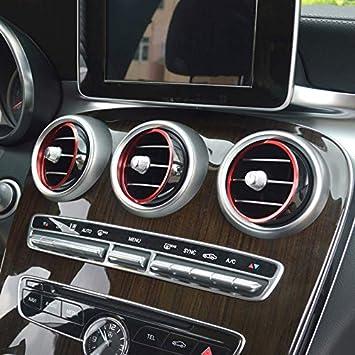 Für Glc X253 2015 2019 C Klasse Limousine W205 2014 2019 Interieur A C Gitter Dekor Metall Rot Auto