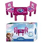 TABLE + 2 CHAISES EN PLASTIQUE REINE...