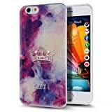 iPhone SE Case,iPhone 5S Case,iPhone SE/5S TPU Case,NSSTAR Beautiful Purple Crown Queen U Graphic Clear Bumper TPU Soft Silicone Rubber Skin Cover Case for Apple iPhone SE 2016 & iPhone 5S 5