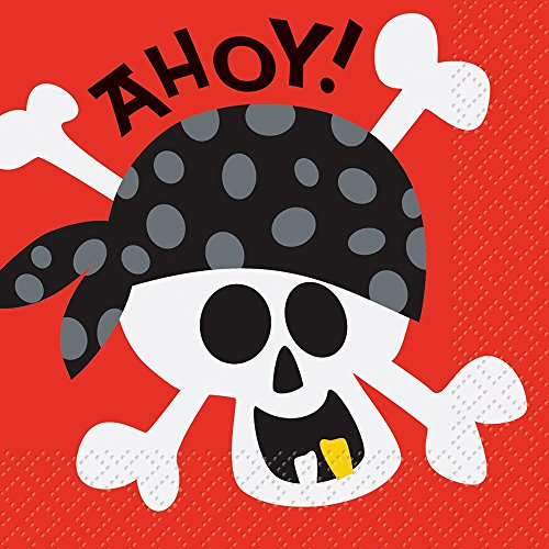 (Pirate Party Beverage Napkins, 16ct)