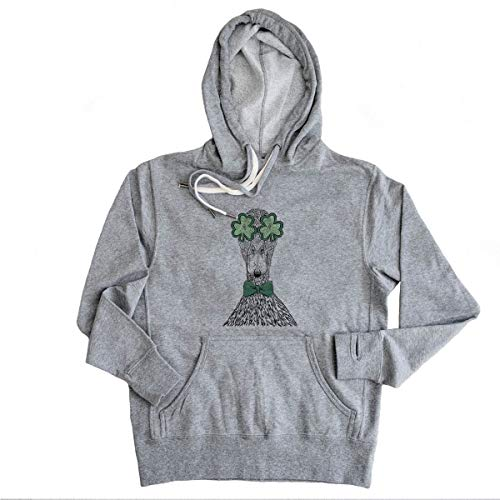 St. Patrick's Day Marge The Mallard Duck French Terry Hoodie Pullover Sweatshirt Unisex Slim Fit 2XL Grey