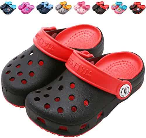 48b58cbc2776c Clothing, Shoes & Jewelry Clogs & Mules KVbabby Kids Garden Shoes Girls  Cute Clogs Boys Mules Slides Sandals Beach Slipper Water Shoes
