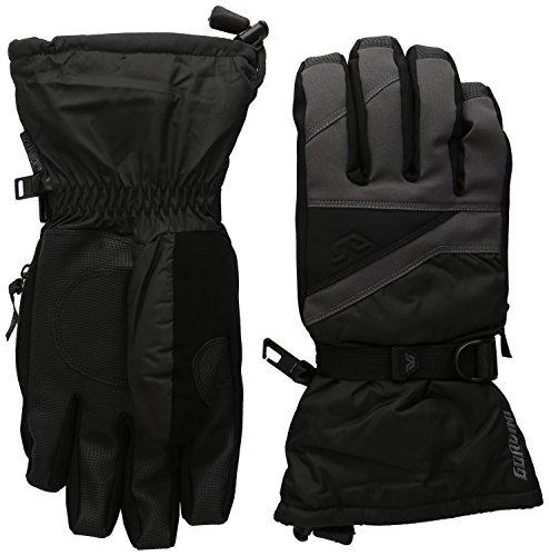 Gordini Men's Stomp III Gloves, Gun Metal Black, - Apparel Stomp