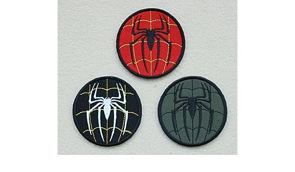 Icono de araña super héroe Spiderman parche de Velcro bordado táctico ejército moral (K): Amazon.es: Juguetes y juegos