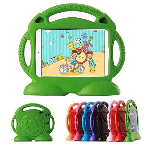 HCHA Apple iPad Mini 4 3 2 1 Kids Case with Handle Durable Lightweight Shockproof Kids Proof Protective Cases for iPad Mini 4/3/2/1 7.9 inch NOT for iPad 2 3 4 or iPad Air (Green)