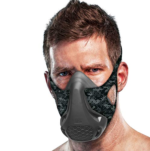 TEC Training Mask – 16 Breathing Levels, Maximizes Workout and Achieves Benefit of High Altitude Elevation Training for Running, Cycling, Boxing, HIIT; Increases Cardio, Endurance and Stamina