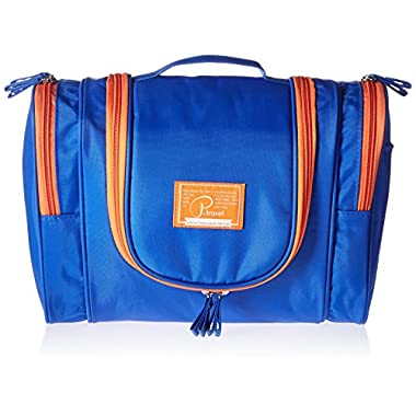 FLYMEI® Premium Large Waterproof Toiletry Bag / Travel Kit Organizer / Bathroom Storage / Cosmetic Bag with Hanging Hook - Blue
