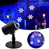 Halloween Projection Lights Auto-Timer - Snowflake & Water Wave Landscape Waterproof Projector - Gobo Spotlight Lawn Garden Path Courtyard Party Holiday with Indoor Base & Ground Stake Christmas Gift