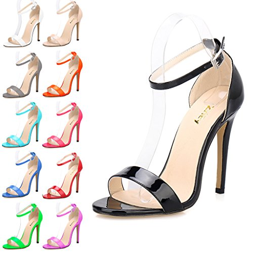 0fdab6231 ZriEy(TM) Women Sandals High Heels 11cm Open Toe Ankle Straps ...