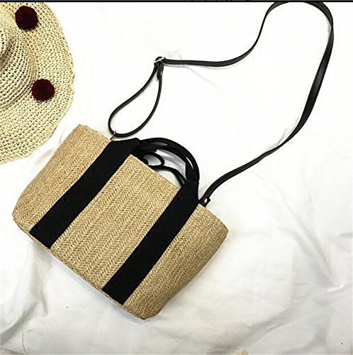 Meaeo Sacs De Paille Occasionnels Plage Vacances Sacs Femmes Handmade Fashion Tote Petit Sac Multifonctionnel Chers qllTKhn