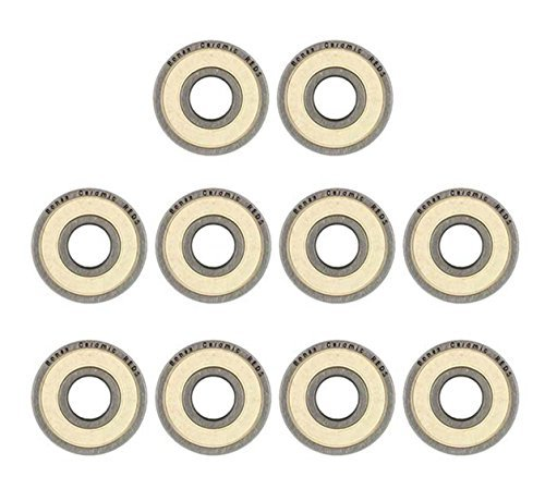 8 Pcs Bones CERAMIC Super Reds Precision bearing Roller set skateboard inline skate 8mm