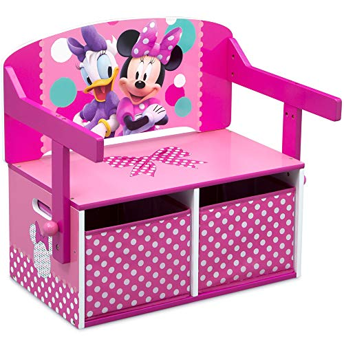 Minnie Mouse Table And Chair (Delta Children Kids Activity Bench, Disney Minnie)