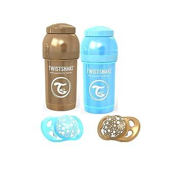 Amazon.com: Twistshake - Conjunto de 2 chupetes anticólicos ...
