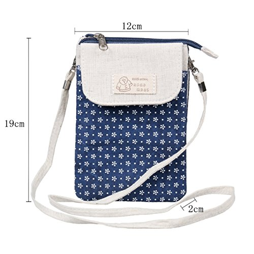 Flower Travelling Bag Womens Phone Crossbody Damara Pouch Pink 7BxP5w5Eq