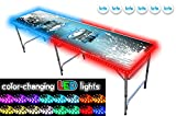 8-Foot Beer Pong Table w/LED Glow Lights...
