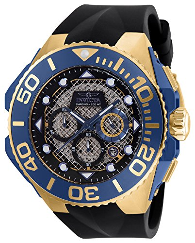 - Invicta Men's Coalition Forces Stainless Steel Quartz Watch with Silicone Strap, Black, 29.8 (Model: 23960)