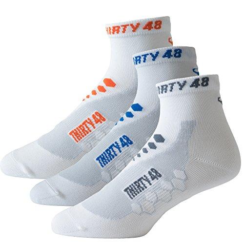 Thirty48 Low Cut Cycling Socks Unisex; Running, Spin Class, Hiking, Gym Training