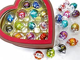 Valentine\'s Heart alternative, Lindt chocolate Large assortment, 13 new different flavors truffle .