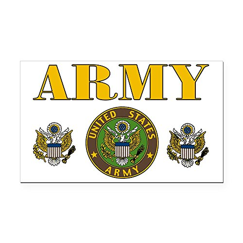 Rectangle Car Magnet United States US Army Military Seal -