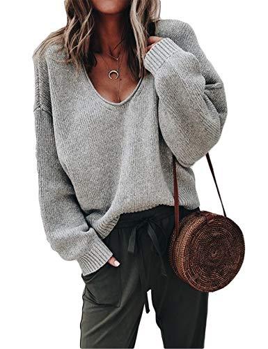 ZHENWEI Womens Light Sweaters Knit Fashion Cozy Soft Pullovers Sweater Oversized