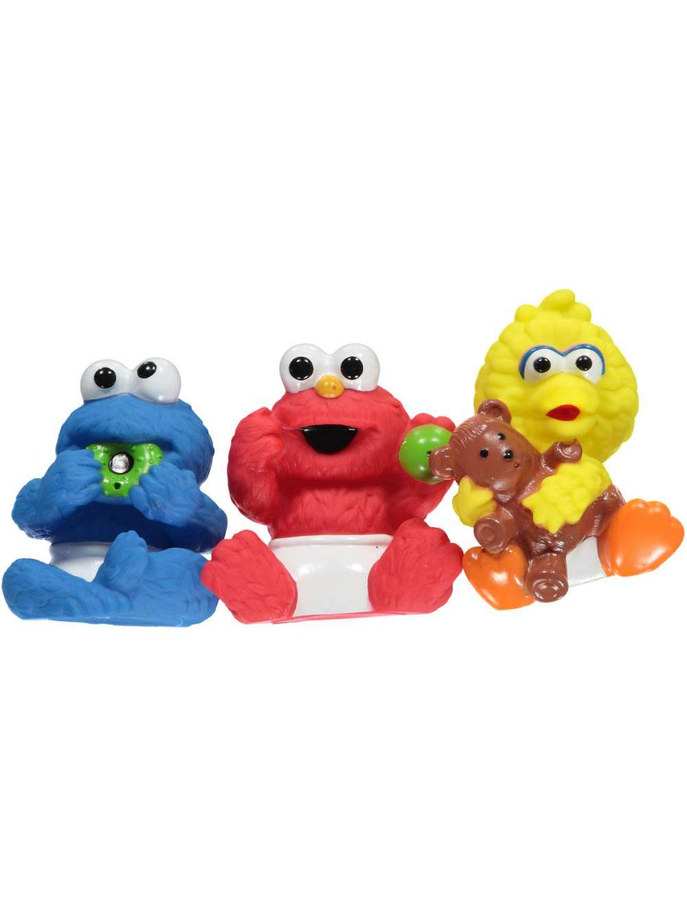 Sesame Street Friends Bath Tub Squirter 3-Pack with Cookie Monster, Elmo & Big Bird BKST9100