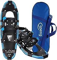 Gpeng Lightweight Aluminum Terrain Snowshoes Snow Shoes for Men Women Youth Kids, Adjustable Ratchet Bindings,