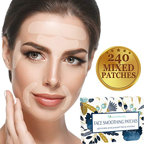 Facial Patches Wrinkle Remover Strips - 240 Face Tape Smoothing: Forehead Wrinkle Patches, Eye Wrinkle Patches, Wrinkles Around Mouth & Upper Lip Wrinkle Treatment Reusable Smoothing Wrinkle Patches