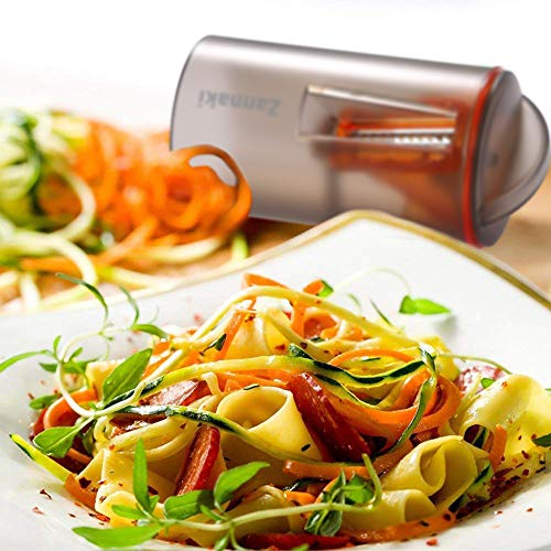 2 Pack Ultimate 8/18 Stainless Steel Blades Compact Handheld Spiral Slicer,Easy-Use Vegetable Spiral Slicer,Best Veggie Zucchini Pasta Spaghetti Maker On Raw Food/Low Carb/Gluten Free/No Wheat/Diet by Zannaki (Image #3)