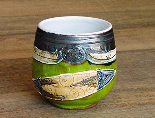 Pottery Wine or Water Goblet, Ceramic Punch Bowl. Handmade mug - Milk Glass Punch Bowl