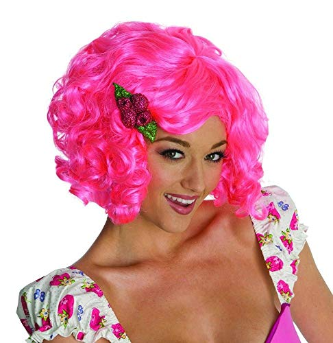 Secret Wishes Strawberry Shortcake Adult Deluxe Wig, Raspberry, Adult