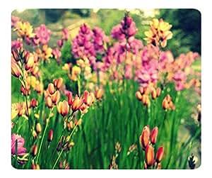 Decorative Mouse Pad Art Print Landscape and Plants Bunch Of Flowers