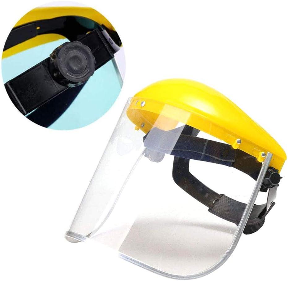 WZYJ Máscara Protectora montada en la Cabeza, máscara de protección Facial Anti-Salpicaduras, Resistencia a Altas temperaturas para moler Polvo cortando Hierba