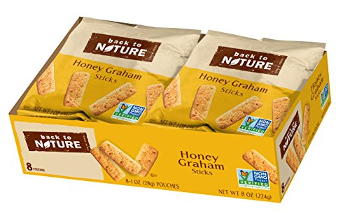 Back to Nature Non-GMO Honey Graham Stick Cookies, 100 Count
