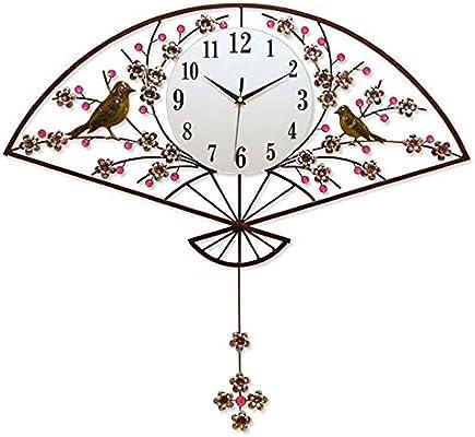 20-Inch Creative Pendulum Clock Retro Wrought Iron Mute Wall