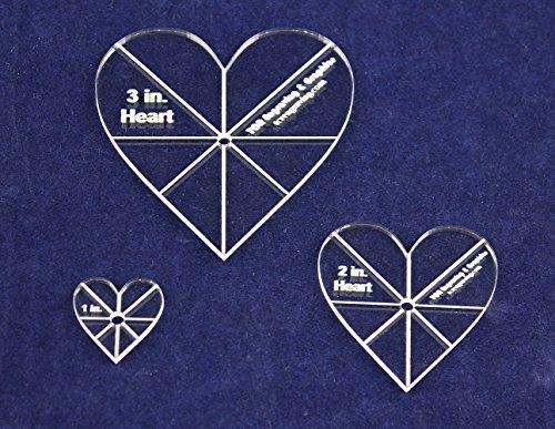 Heart Template 3 Piece Set. 1