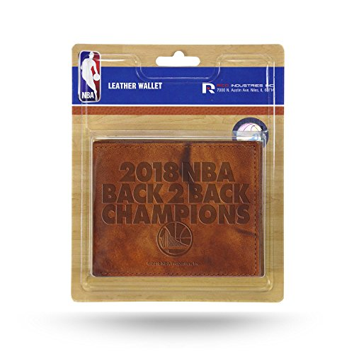 Rico Industries NBA Golden State Warriors 2018 Basketball Champions Embossed Leather Trifold Wallet with Man Made Interior by Rico Industries