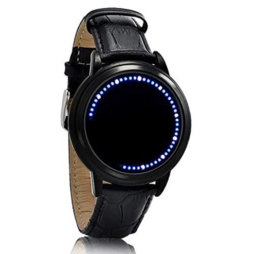 Digital Watches Fashion Black Hole Star Men Led Watch Couple Fashion Leather Band Analog Quartz Round Wrist Business Mens Electronic Watch Elegant In Style Watches