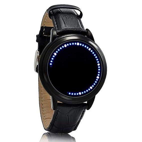 Blanco y Azul LED Pantalla táctil reloj (Luz Azul)