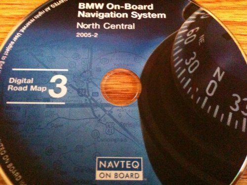 navigation CD # 3 for BMW, Land Rover or Mini Cooper. Disk covers North Central (map date 2005) (Bmw Map)