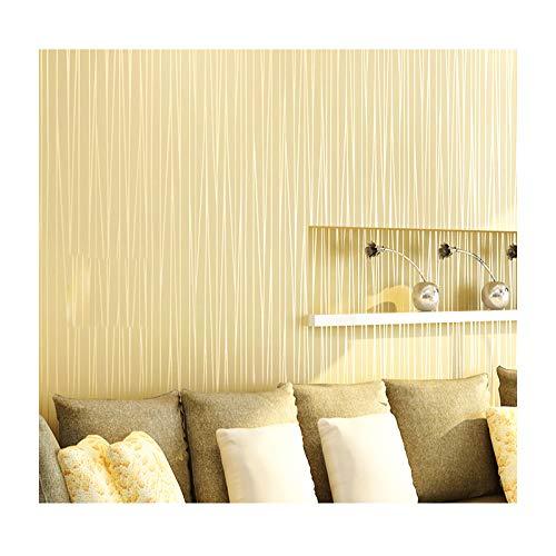 Homdox wallpapers, Modern Non-Woven Embossed Flocking, Antistatic, Dustproof, Moistureproof, Anti-Bacterial for Livingroom Bedroom Kitchen Bathroom (Beige)