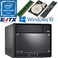 Shuttle SH110R4 Intel Pentium G4600 (Kaby Lake) XPC Cube System , 4GB DDR4, 960GB M.2 SSD, 2TB HDD, DVD RW, WiFi, Bluetooth, Window 10 Pro Installed & Configured by E-ITX