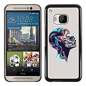 Be Good Phone Accessory // Dura Cáscara cubierta Protectora Caso Carcasa Funda de Protección para HTC One M9 // Colorful Abstract Head
