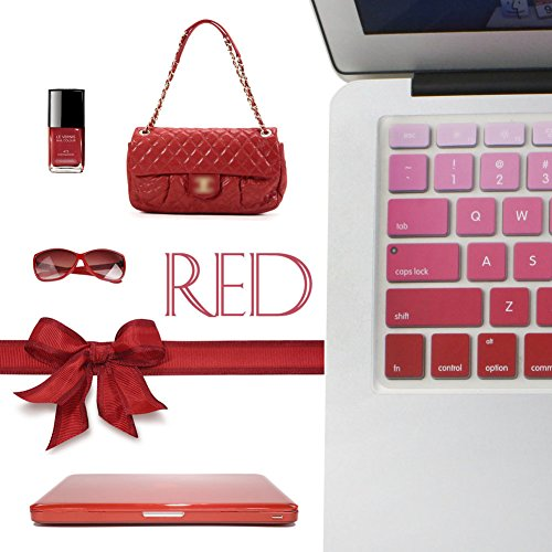 """All-inside Red Ombre Color Keyboard Skin for MacBook Pro 13"""" 15"""" 17"""" (with or without Retina Display) / MacBoook Air 13"""""""