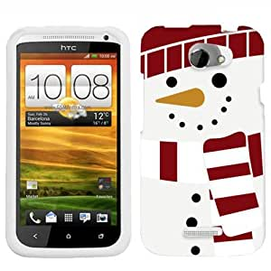 HTC One X Holiday Snowman On White Phone Case Cover